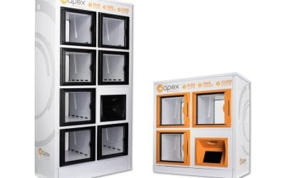 Apex Showcasing Innovative, Two-Sided Flow-Thru Locker at #NRF2019